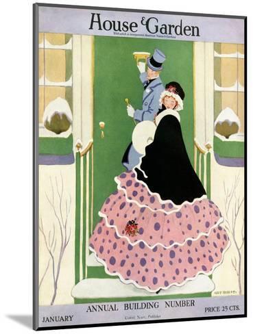 House & Garden Cover - January 1916-L. M. Hubert-Mounted Premium Giclee Print