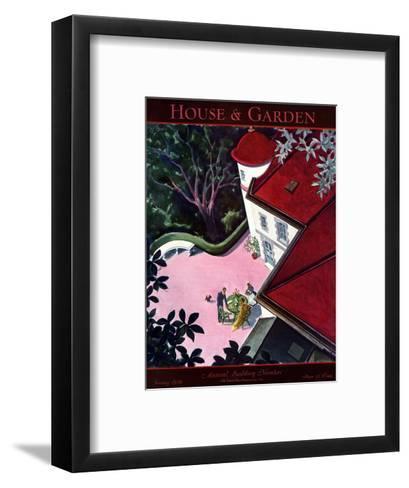 House & Garden Cover - January 1930-Walter Buehr-Framed Art Print