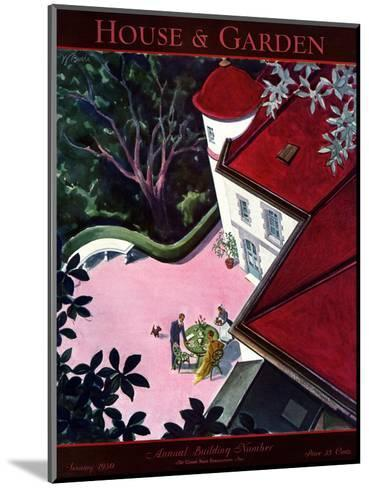House & Garden Cover - January 1930-Walter Buehr-Mounted Premium Giclee Print
