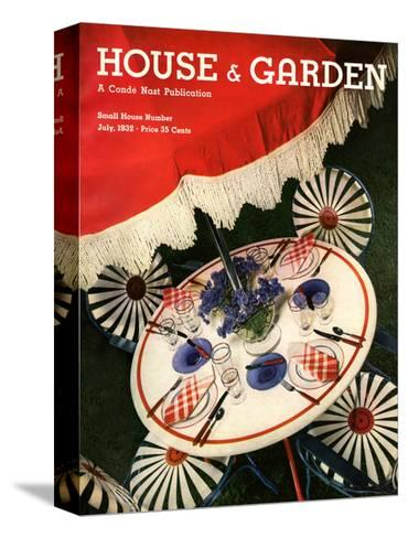 House & Garden Cover - July 1932-Anton Bruehl-Stretched Canvas Print