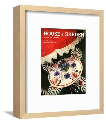 House & Garden Cover - July 1932-Anton Bruehl-Framed Art Print