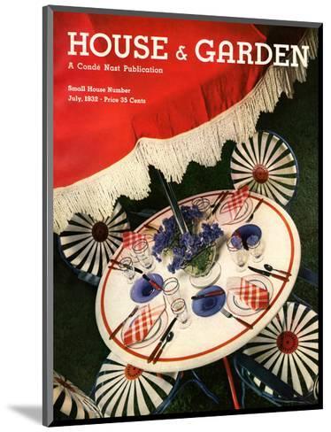 House & Garden Cover - July 1932-Anton Bruehl-Mounted Premium Giclee Print