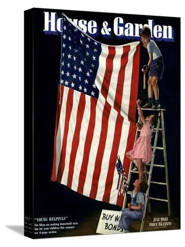 House & Garden Cover - July 1943-Gjon Mili-Stretched Canvas Print