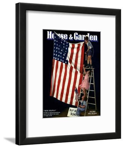 House & Garden Cover - July 1943-Gjon Mili-Framed Art Print