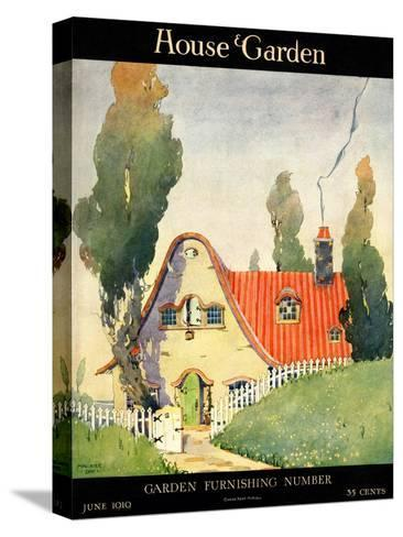 House & Garden Cover - June 1919-Maurice Day-Stretched Canvas Print