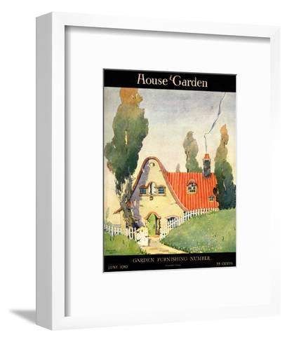 House & Garden Cover - June 1919-Maurice Day-Framed Art Print