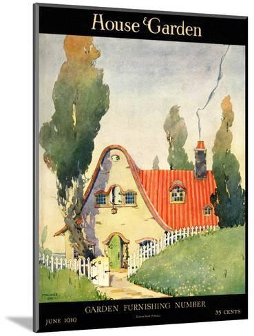 House & Garden Cover - June 1919-Maurice Day-Mounted Premium Giclee Print