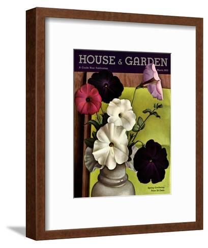 House & Garden Cover - March 1935-Edna Reindel-Framed Art Print