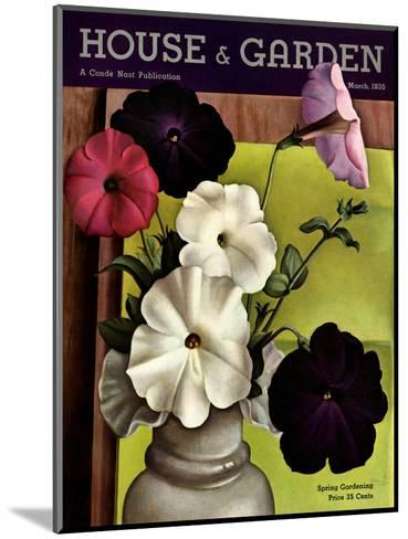 House & Garden Cover - March 1935-Edna Reindel-Mounted Premium Giclee Print