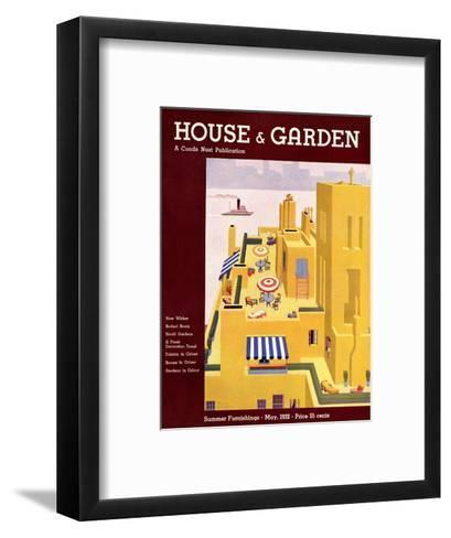 House & Garden Cover - May 1932-Bates Gilbert-Framed Art Print