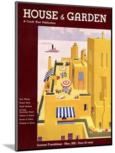House & Garden Cover - May 1932-Bates Gilbert-Mounted Premium Giclee Print