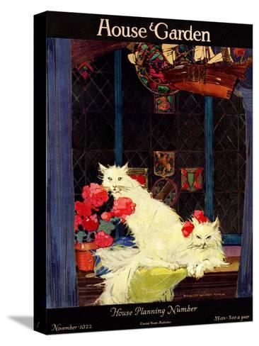 House & Garden Cover - November 1922-Bradley Walker Tomlin-Stretched Canvas Print