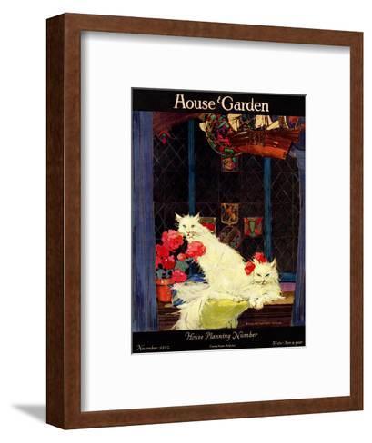 House & Garden Cover - November 1922-Bradley Walker Tomlin-Framed Art Print