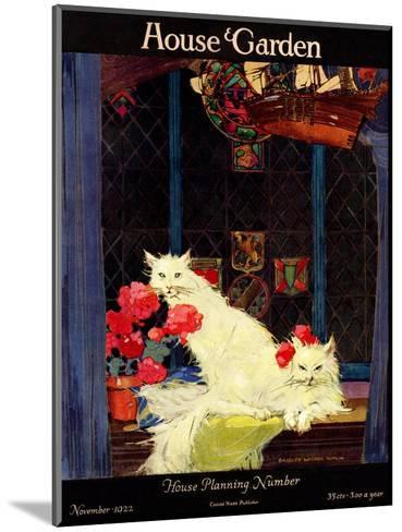 House & Garden Cover - November 1922-Bradley Walker Tomlin-Mounted Premium Giclee Print