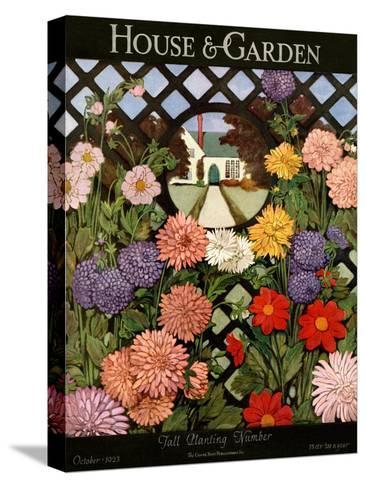 House & Garden Cover - October 1923-Ethel Franklin Betts Baines-Stretched Canvas Print