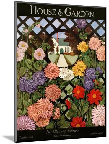 House & Garden Cover - October 1923-Ethel Franklin Betts Baines-Mounted Premium Giclee Print