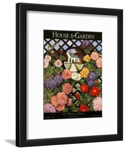 House & Garden Cover - October 1923-Ethel Franklin Betts Baines-Framed Art Print