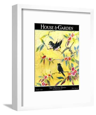 House & Garden Cover - October 1924-Leah Ramsay-Framed Art Print