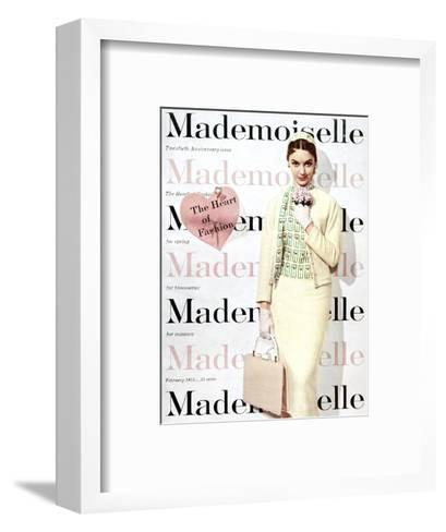 Mademoiselle Cover - February 1955-George Barkentin-Framed Art Print