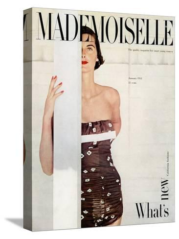 Mademoiselle Cover - January 1951-John Engstead-Stretched Canvas Print