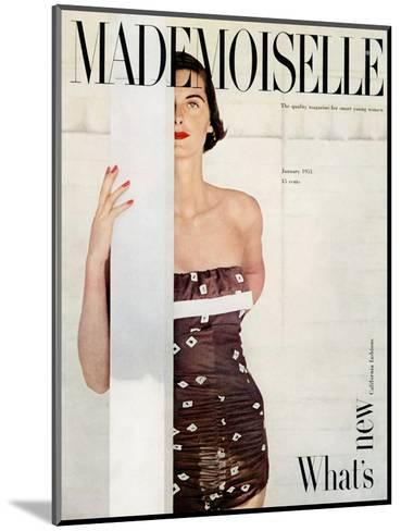 Mademoiselle Cover - January 1951-John Engstead-Mounted Premium Giclee Print
