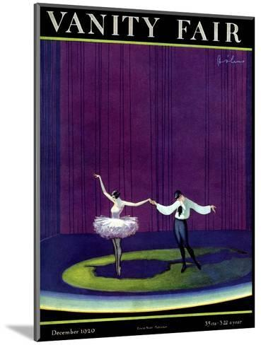 Vanity Fair Cover - December 1920-William Bolin-Mounted Premium Giclee Print