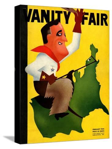 Vanity Fair Cover - February 1934-Leon Carlin-Stretched Canvas Print