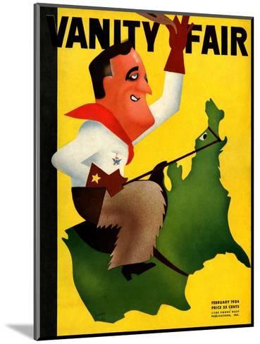 Vanity Fair Cover - February 1934-Leon Carlin-Mounted Premium Giclee Print