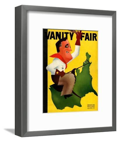 Vanity Fair Cover - February 1934-Leon Carlin-Framed Art Print