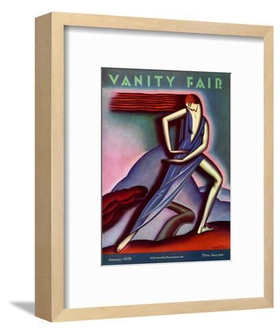 Vanity Fair Cover - January 1929-Symeon Shimin-Framed Art Print