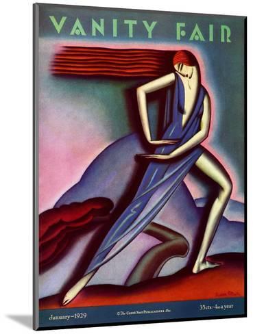 Vanity Fair Cover - January 1929-Symeon Shimin-Mounted Premium Giclee Print
