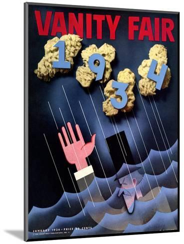 Vanity Fair Cover - January 1934-Frederick Chance-Mounted Premium Giclee Print