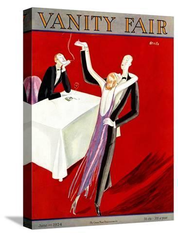 Vanity Fair Cover - June 1924-Eduardo Garcia Benito-Stretched Canvas Print
