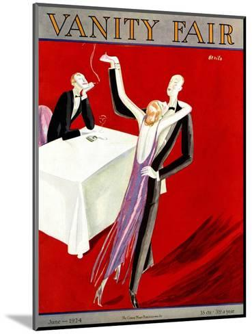 Vanity Fair Cover - June 1924-Eduardo Garcia Benito-Mounted Premium Giclee Print