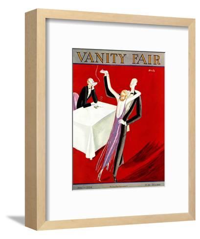 Vanity Fair Cover - June 1924-Eduardo Garcia Benito-Framed Art Print