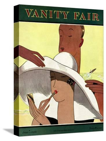 Vanity Fair Cover - June 1929-Marion Wildman-Stretched Canvas Print
