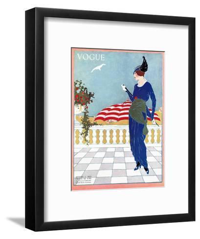 Vogue Cover - August 1913-Will Hammell-Framed Art Print