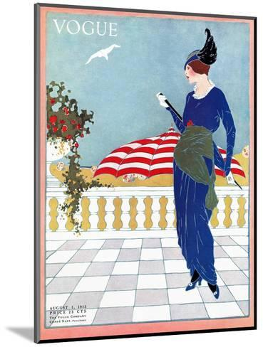 Vogue Cover - August 1913-Will Hammell-Mounted Premium Giclee Print