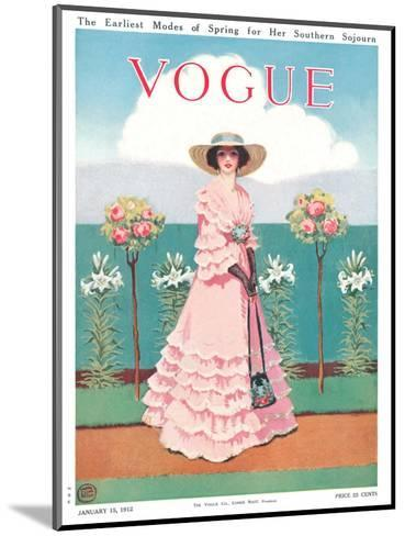 Vogue Cover - January 1912-Mrs. Newell Tilton-Mounted Premium Giclee Print