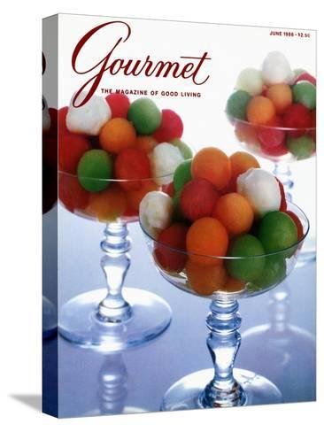 Gourmet Cover - June 1986-Romulo Yanes-Stretched Canvas Print