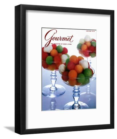 Gourmet Cover - June 1986-Romulo Yanes-Framed Art Print