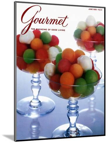 Gourmet Cover - June 1986-Romulo Yanes-Mounted Premium Giclee Print