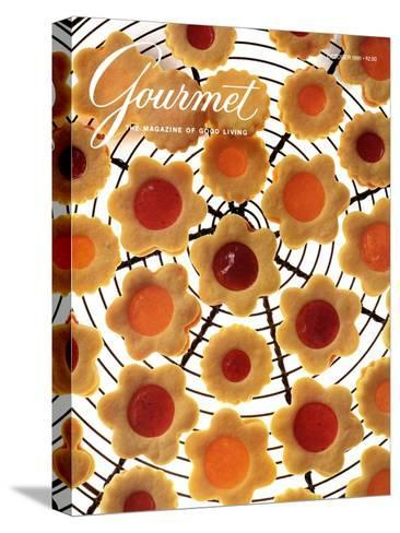 Gourmet Cover - October 1991-Romulo Yanes-Stretched Canvas Print