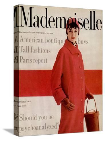 Mademoiselle Cover - October 1953-Stephen Colhoun-Stretched Canvas Print
