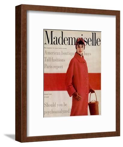 Mademoiselle Cover - October 1953-Stephen Colhoun-Framed Art Print