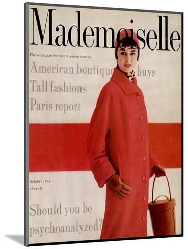 Mademoiselle Cover - October 1953-Stephen Colhoun-Mounted Premium Giclee Print