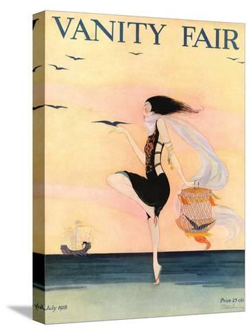 Vanity Fair Cover - July 1916-Rita Senger-Stretched Canvas Print