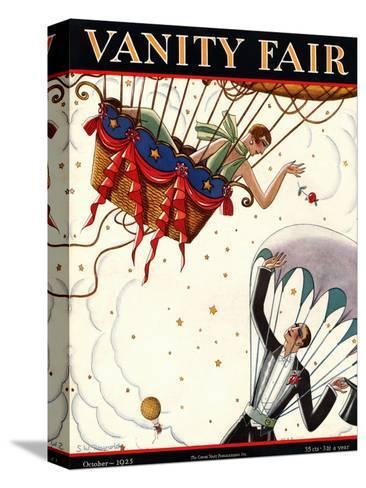 Vanity Fair Cover - October 1925-Stanley W. Reynolds-Stretched Canvas Print