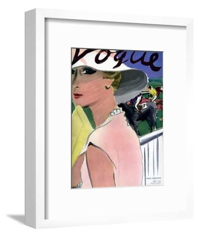"Vogue Cover - April 1933-Carl ""Eric"" Erickson-Framed Art Print"