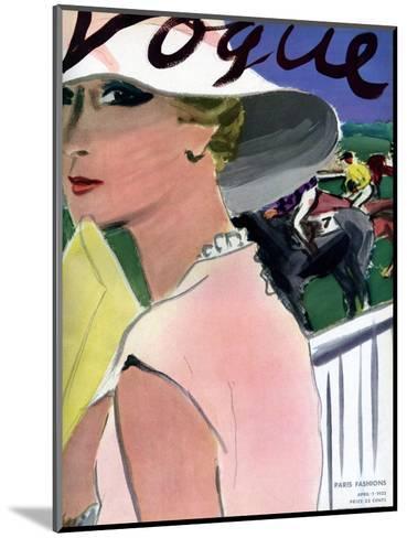 "Vogue Cover - April 1933-Carl ""Eric"" Erickson-Mounted Premium Giclee Print"